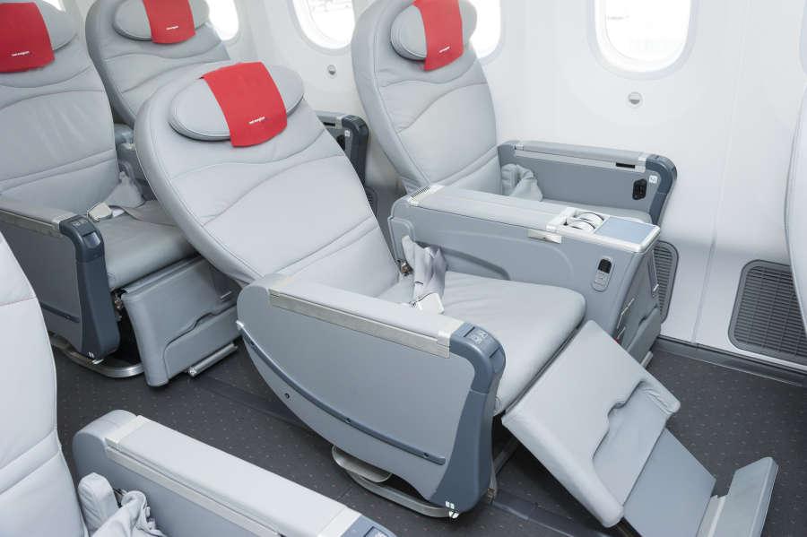 Premium seating on Norwegian Airlines.