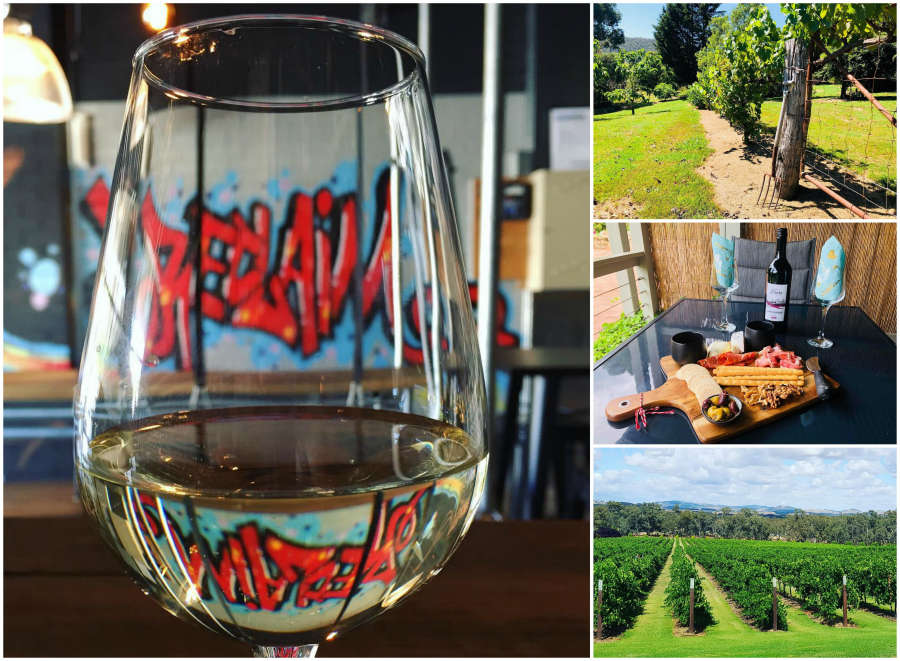 Australian wineries in Myrtleford.