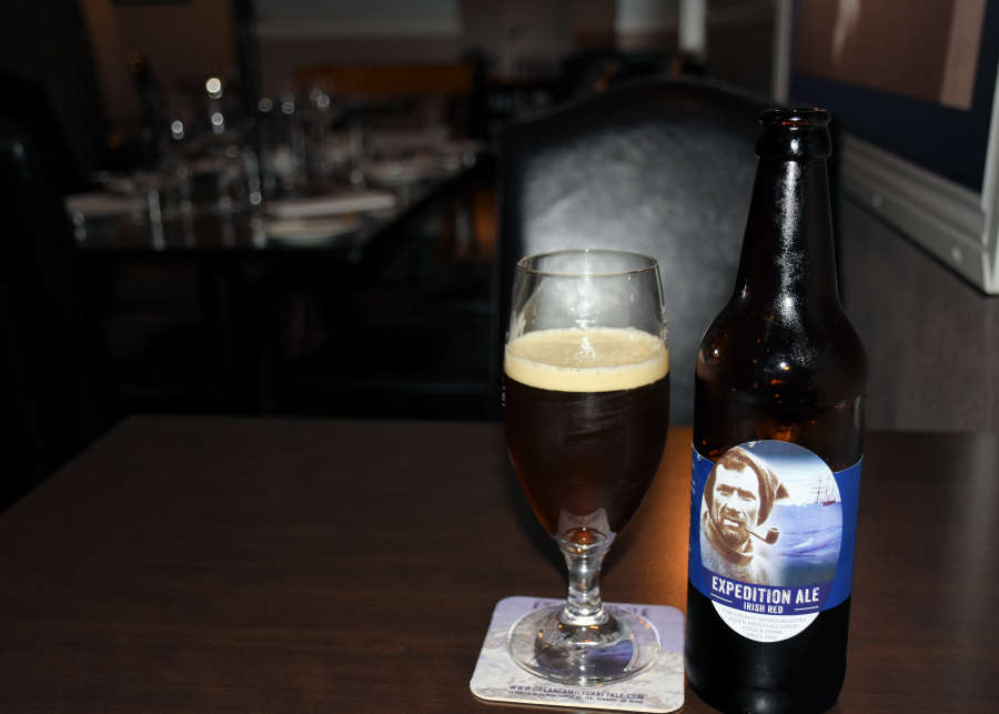 Expedition Ale at Tom Crean Fish & Wine & Accommodation in Kenmare, Ireland.