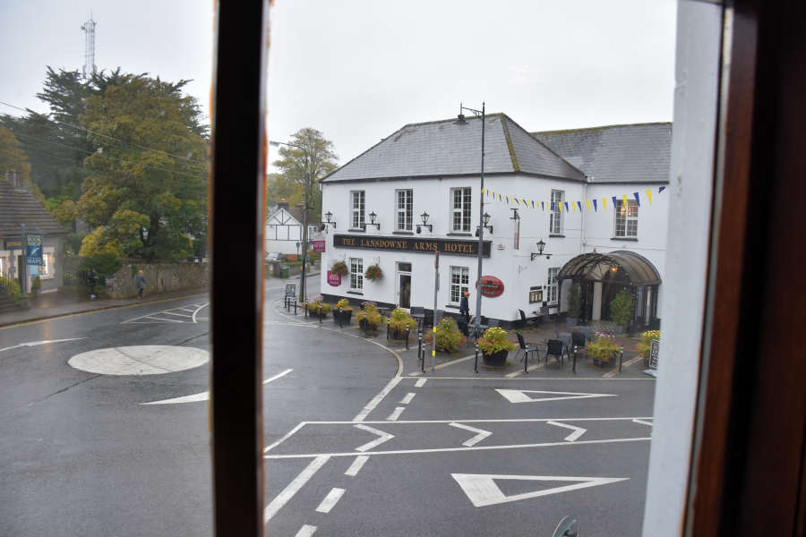 View from room at Tom Crean Fish & Wine & Accommodation in Kenmare, Ireland.
