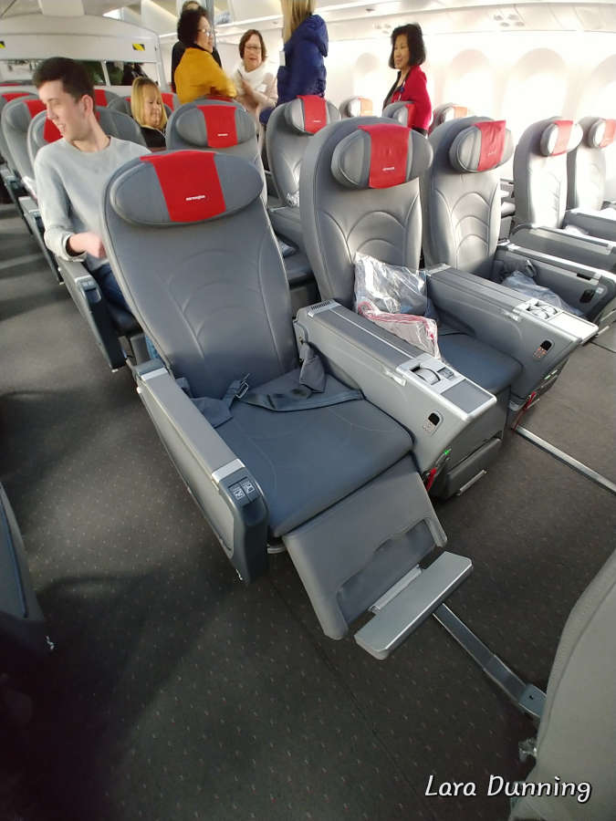 Norwegian Airlines Premium class seating.