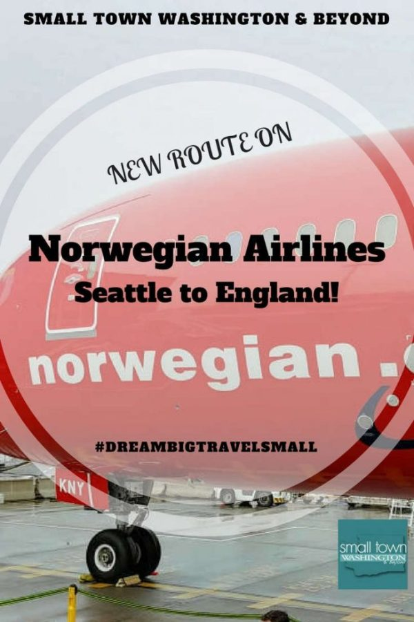 New route on Norwegian Airlines from Seattle to Gatwick.