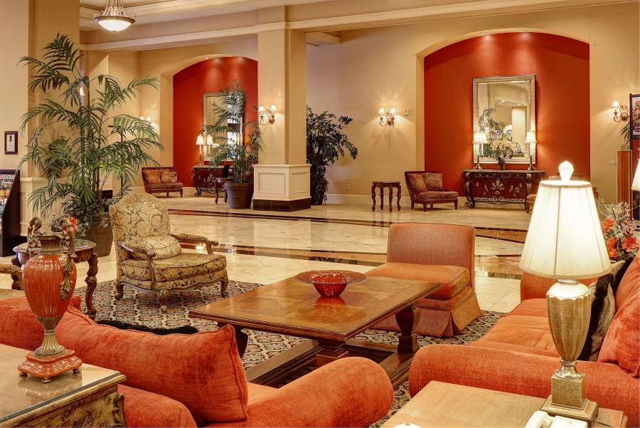 The Grand Hotel lobby in Salem, Oregon.