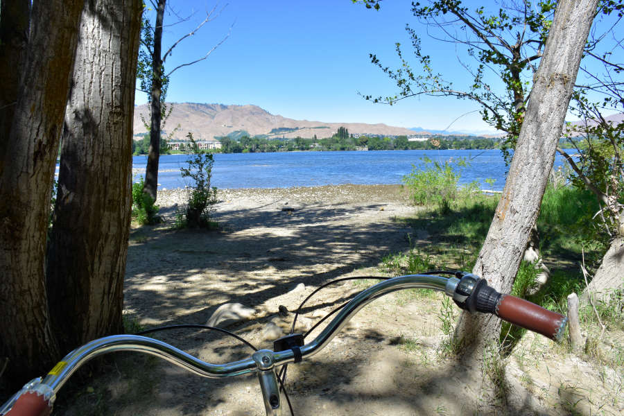 Biking the Apple Capital Loop Trail in Wenatchee, Washington.