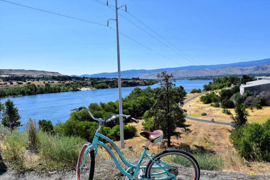 Bike trails in Wenatchee, Washington.
