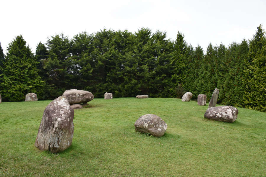 The stone circle in Kenmare, Ireland on the Ring of Kerry.