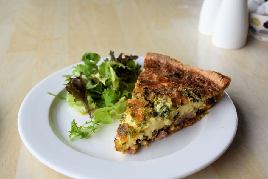 Quiche at Avoca on the Ring of Kerry.