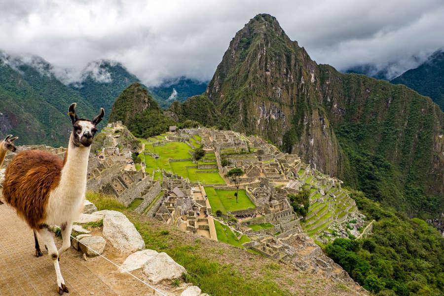 Traveling to Machu Picchu in Peru.