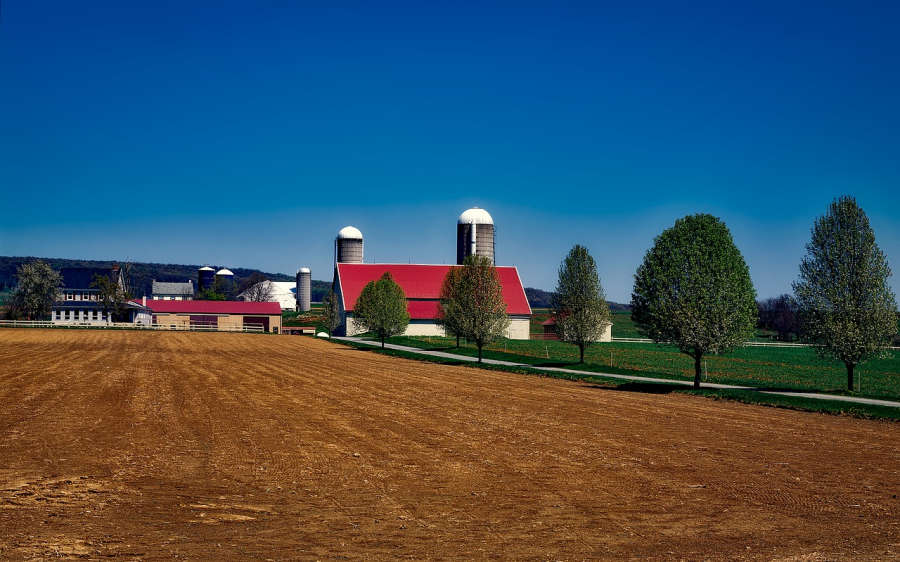 An Amish farm in Lancaster, Pennsylvania.