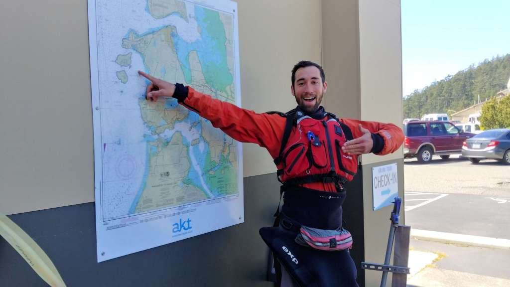 Instructor James Carlberg at Anacortes Kayak Tours.