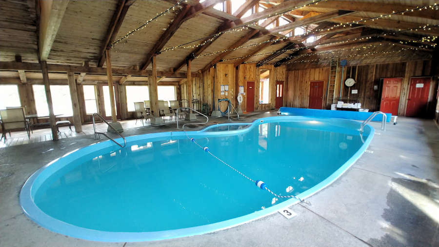 The pool at River Run Inn in Winthrop, Washington.