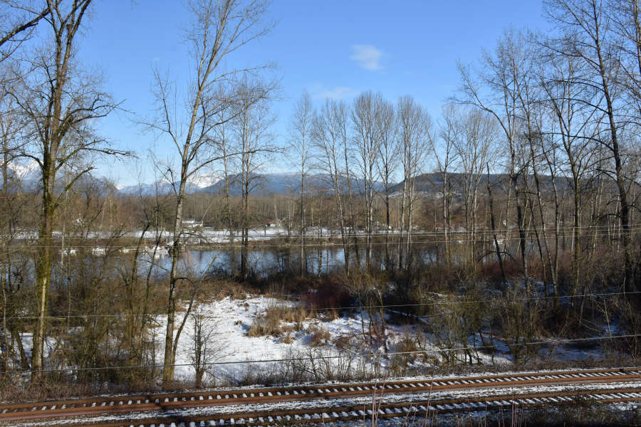 Fraser River in Fort Langley, British Columbia.