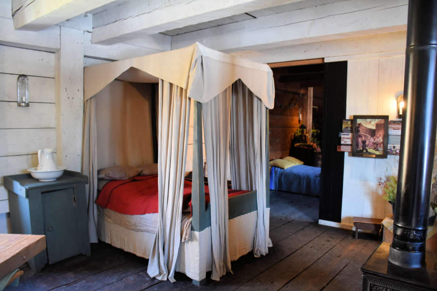 The servant's quarters at Fort Langley National Historic Site.