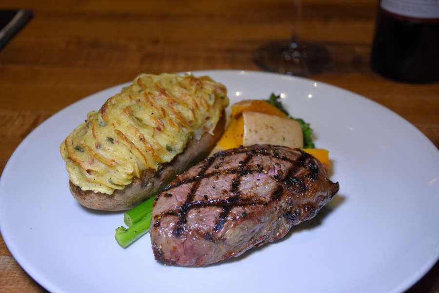 Steak and potatoes at Moxie's Grill and Bar.