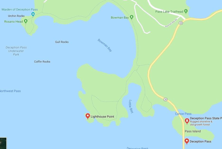 Bowman Bay map