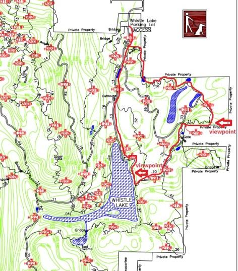 Whistle Lake map in Anacortes, Washington.