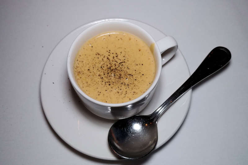 Soup at at The Bay House in Lincoln City, Oregon.