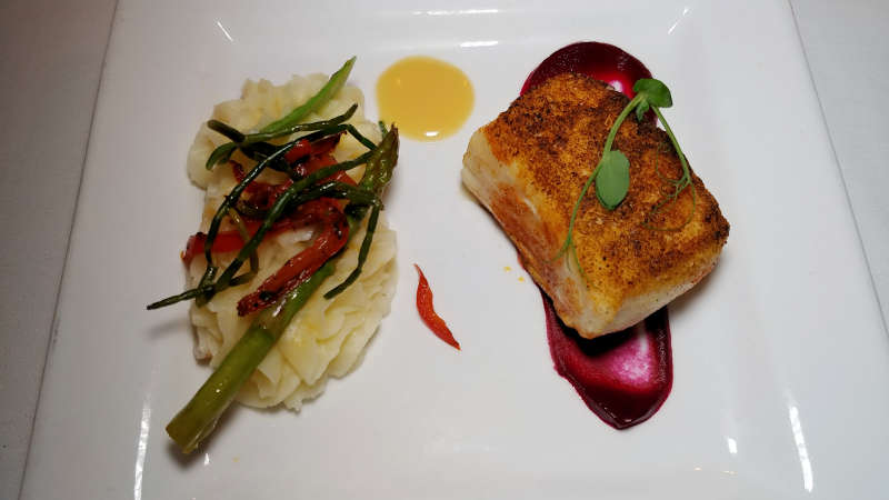 Fish course at The Bay House in Lincoln City, Oregon.