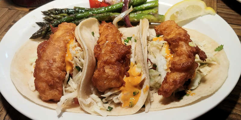 Fish tacos at Sea Galley in Union Gap, Washington.
