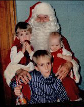 danny, matt, brad and santa