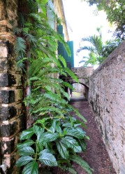 Dry moat surrounding the Great House