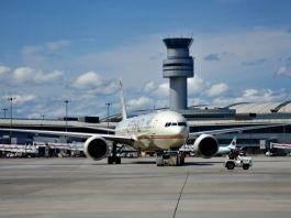 Etihad flight about to depart Toronto Pearson