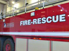 Fire-Rescue truck at Toronto Pearson