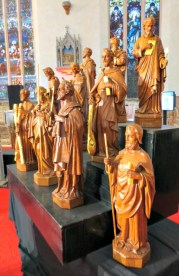 St. Michael's Cathedral wood statues