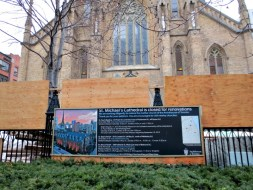 St. Michael's Cathedral is closed for renovation notice