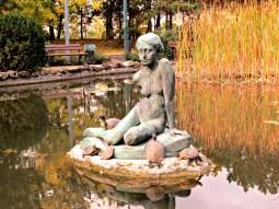 Budapest Margaret Island Japanese Garden woman