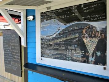Halifax Harbourfront Black Bear Ice Cream price list 2016