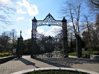 Halifax Public Gardens in May entrance main gates