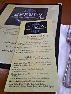Halifax Efendy menu