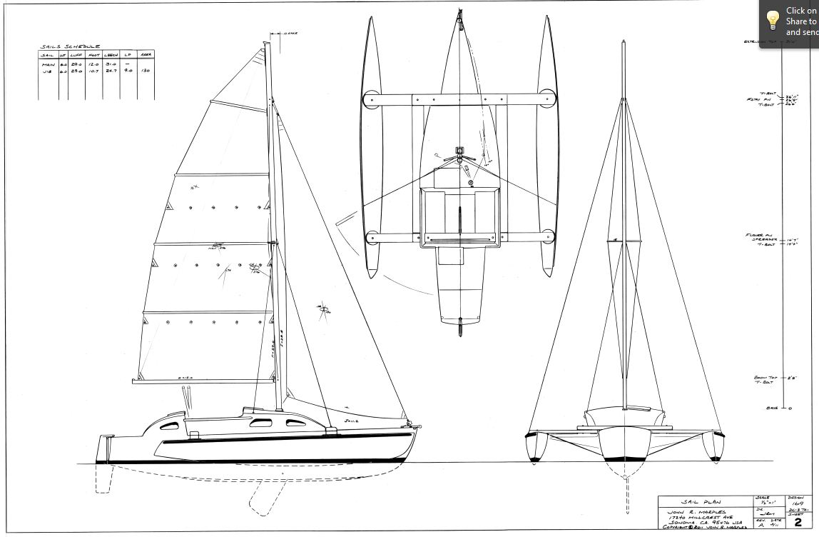 Topic Tri hull sailboat plans ~ Easy build