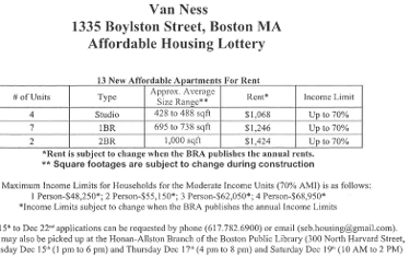 Van Ness Affordable Lottery Rates