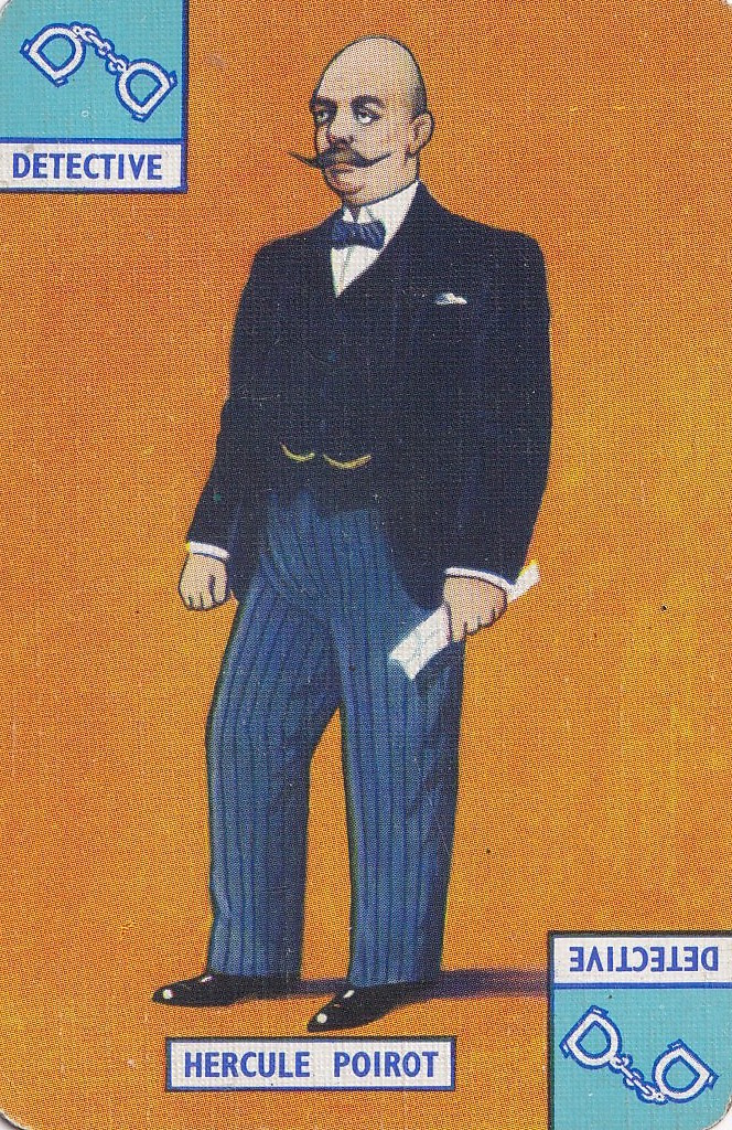 playing card - drawing of Hercule Poirot