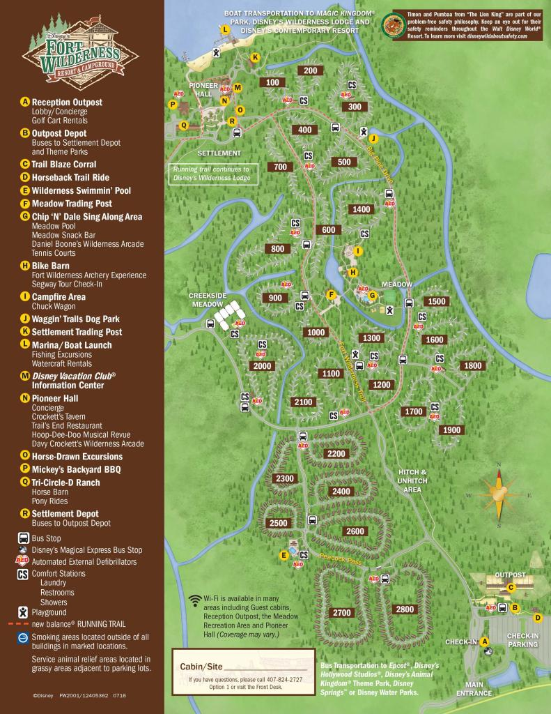 Disney's Fort Wilderness Resort Map