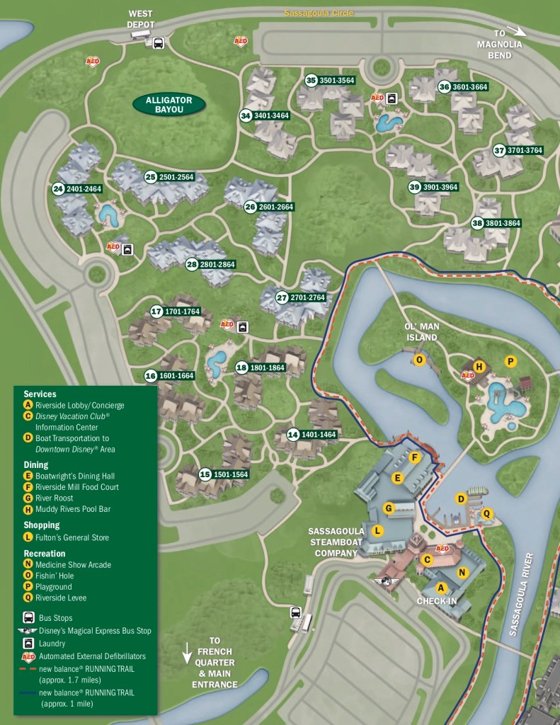 Disney's Port Orleans Resort - Riverside Map 2