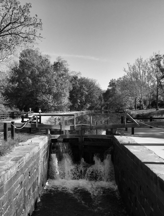 Lock gates on the C & O Canal in Potomac, Maryland