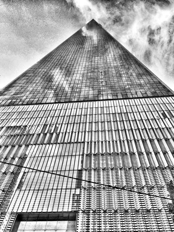 Looking up at One World Trade Center in New York