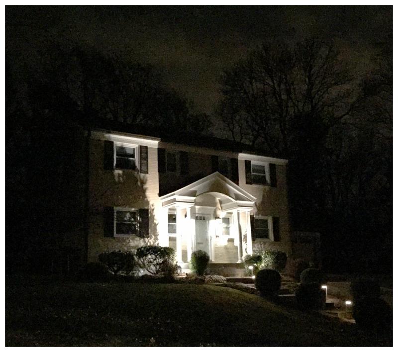 House lights on Wake Drive in Kensington, Maryland
