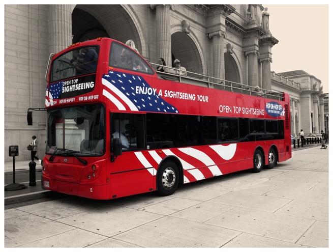 Sightseeing tour bus at Union Station in Washington DC