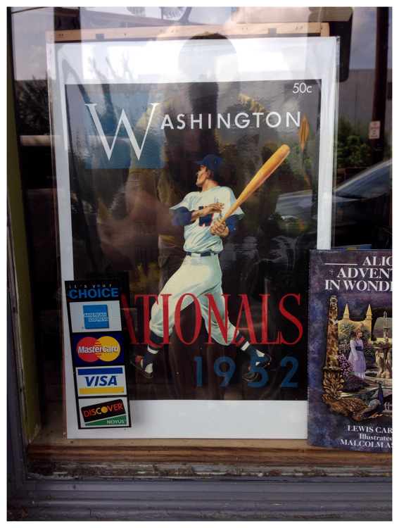 Display window of the bookstore in Kensington, Maryland