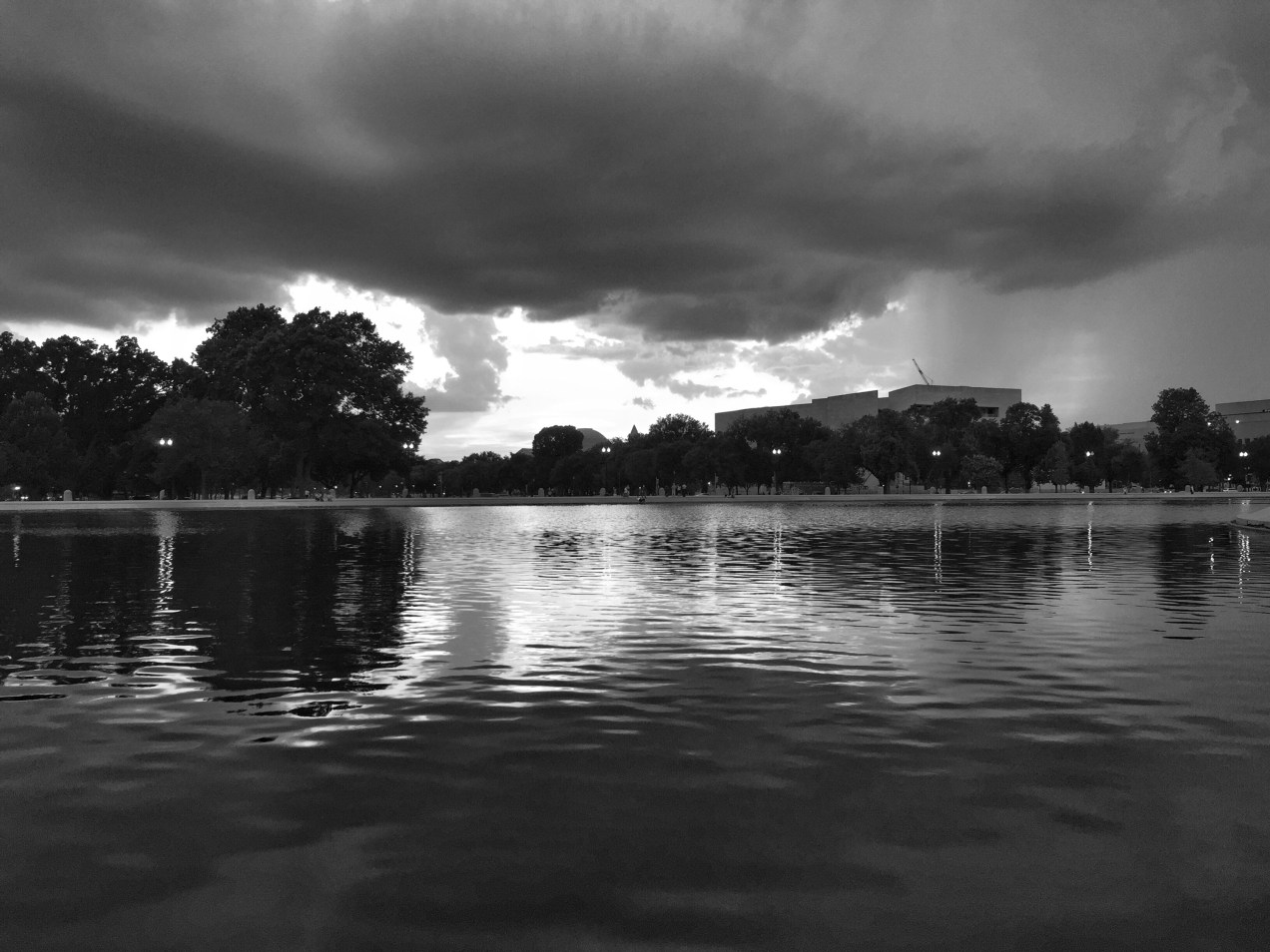 the reflecting pool at the us capitol building in washington dc