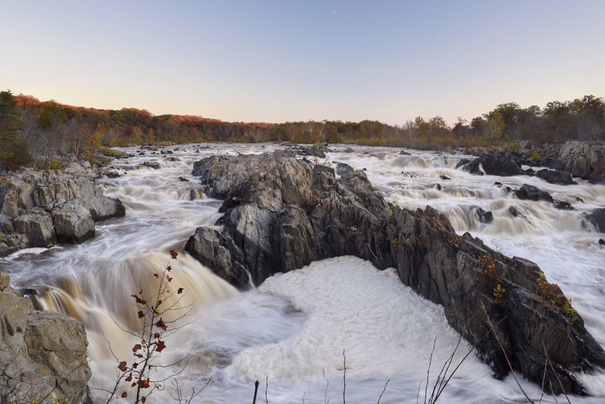The Potomac River at Great Falls Park in Virginia