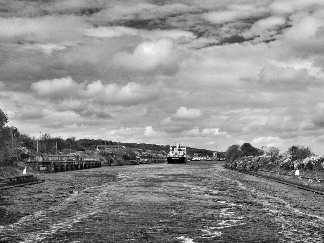 Day trip on the Mersey Ferry Snowdrop along the Manchester Ship Canal