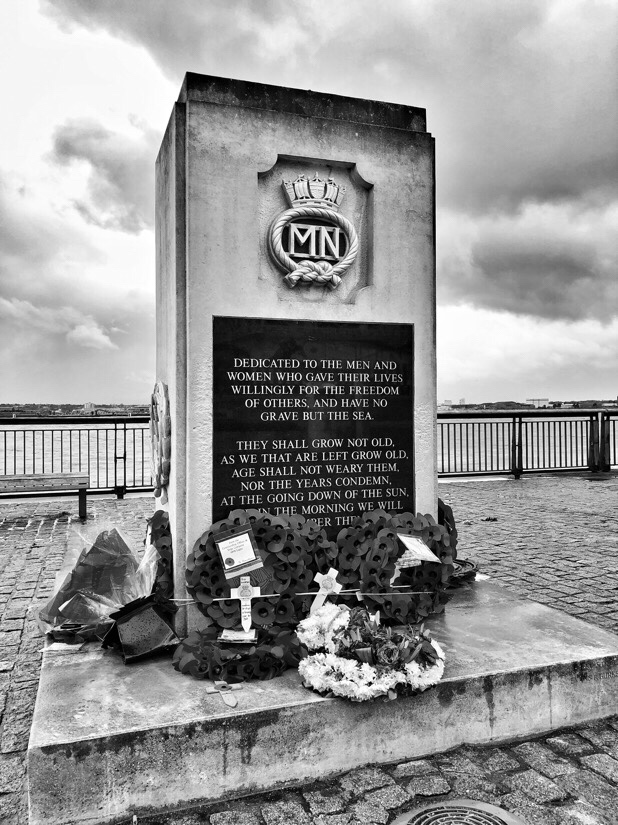 World war memorials in Liverpool.