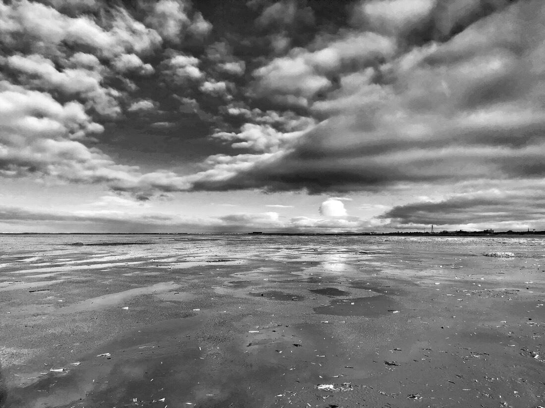 A winter walk along the beach at ainsdale