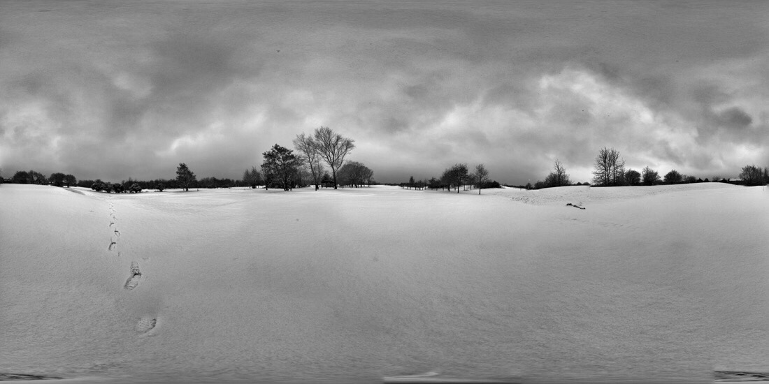 A Little Snow came to Bootle golf course on merseyside