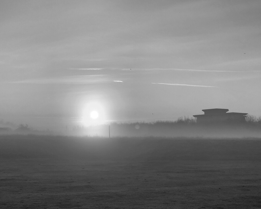 Misty morning on Bootle golf course on merseyside